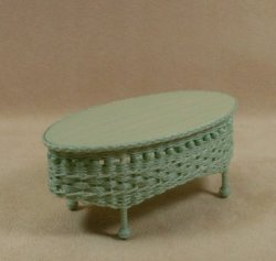 Molly's Oval Coffee Table in Mint Green