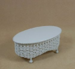 Molly's Oval Coffee Table in White