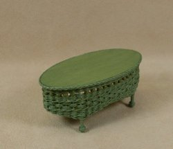Molly's Oval Coffee Table in Fern Green