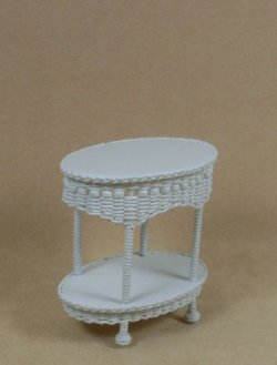Molly's Two Tier End Table in White