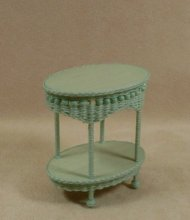 Molly's Two Tier End Table in Mint Green