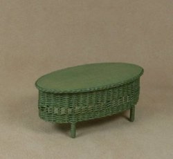 Classic Oval Coffee Table in Fern Green