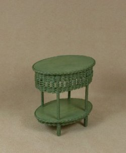 Classic Two Tier End Table in Fern Green