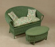 Classic Settee in Fern Green