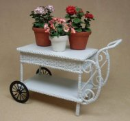 Garden Cart With Fancy Handle and Lower Shelf