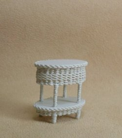 "1/2"" White Two Tier Table"