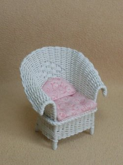 "1/2"" White Porch Chair"