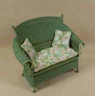 Molly's Loveseat in Fern Green