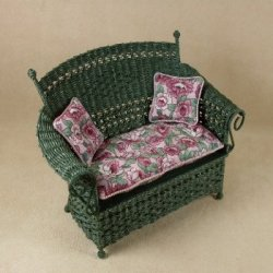 Molly's Loveseat in Emerald Green
