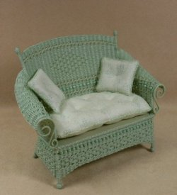 Molly's Loveseat in Mint Green