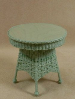 Molly's Round End Table in Mint Green