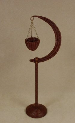 Moon Stand in Mahogany
