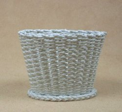 Waste Basket with Open Weave