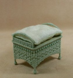 Molly's Ottoman in Mint Green