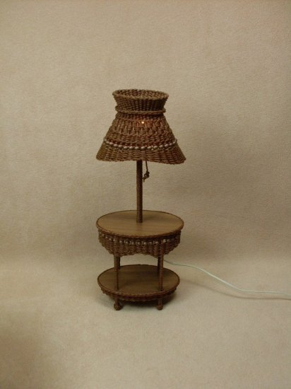 Molly's Table Lamp in Walnut - Click Image to Close