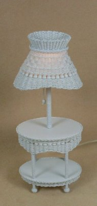 Molly's Oval Lamp Table in White