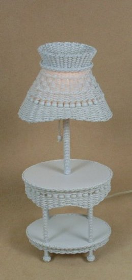 Molly's Oval Lamp Table in White - Click Image to Close