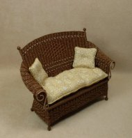 Molly's Settee in Walnut