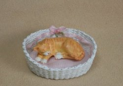 Oval Cat Bed with Bow