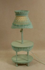 Molly's Oval Table Lamp in Mint Green
