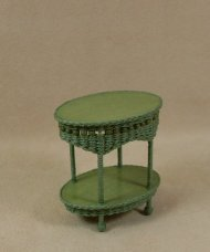 Molly's Two Tier End Table in Fern Green