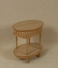Molly's Two Tier End Table in Honey