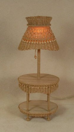 Molly's Oval Table Lamp in Honey