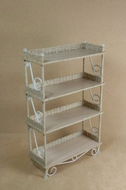 Classic Etagere' in Whitewashed