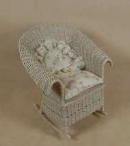 Classic Rocking Chair in Whitewashed