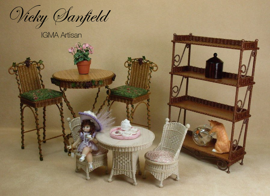 Furniture miniature 3d Printed Miniature Wicker Furniture For Dollhouses Real Simple Miniature Wicker Furniture And Wicker Baskets By Uncle Ciggies