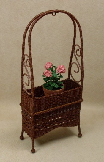 Molly's Arbor Plant Stand in Mahogany - Click Image to Close