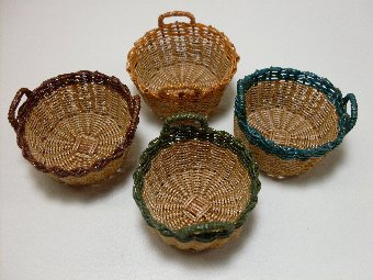 Carolina Round Wicker Basket - Click Image to Close