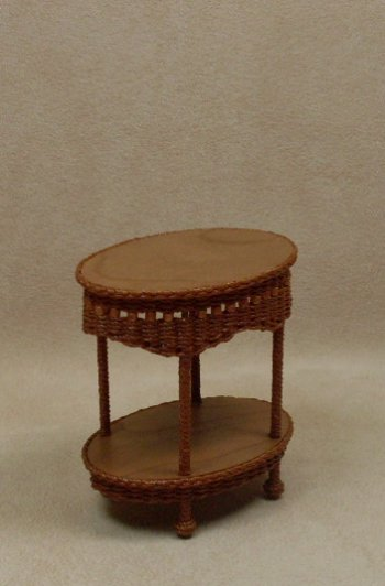 Molly's Two Tier End Table in Cherry - Click Image to Close