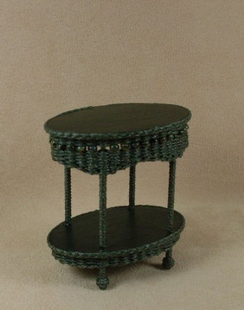 Molly's Two Tier End Table in Emerald Green - Click Image to Close