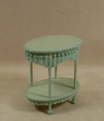 Molly's Two Tier End Table in Mint Green - Click Image to Close