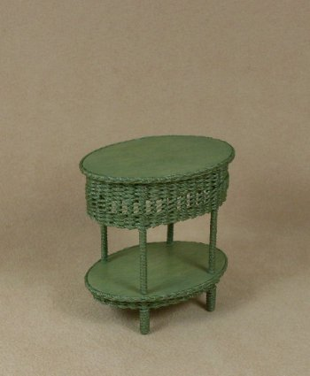 Classic Two Tier End Table in Fern Green - Click Image to Close