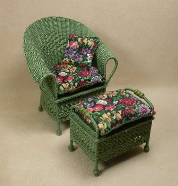Classic Ottoman in Fern Green - Click Image to Close