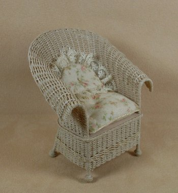Classic Porch Chair in Whitewashed - Click Image to Close