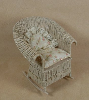 Classic Rocking Chair in Whitewashed - Click Image to Close