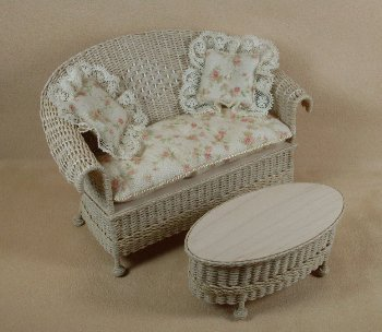 Classic Settee in Whitewashed - Click Image to Close