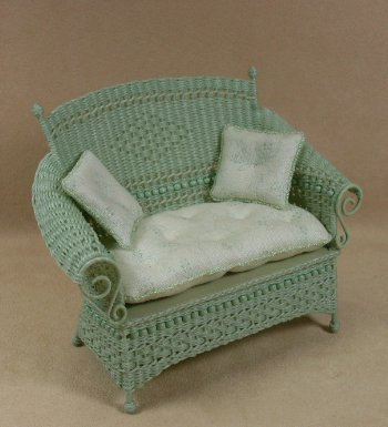 Molly's Loveseat in Mint Green - Click Image to Close