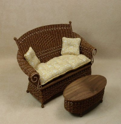 Molly's Loveseat in Walnut - Click Image to Close