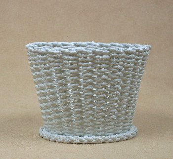 Waste Basket with Open Weave - Click Image to Close