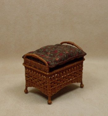 Molly's Ottoman in Cherry - Click Image to Close