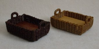 Pastry Basket with Side Handles - Click Image to Close