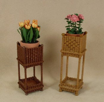 "1"" Two Tier Square Plant Stand - Click Image to Close"