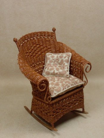 Molly's Rocking Chair in Cherry - Click Image to Close
