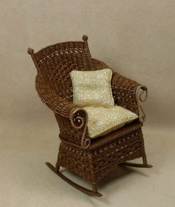 Molly's Rocking Chair in Walnut - Click Image to Close