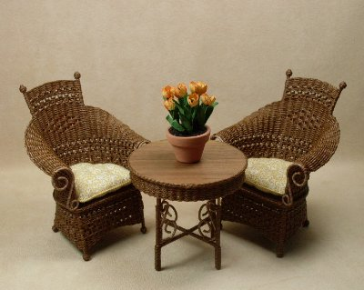 Molly's Tea for Two Set in Walnut - Click Image to Close
