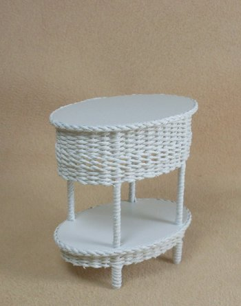 Classic Two Tier Oval End Table - Click Image to Close